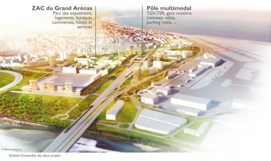 Perspective d'ensemble opération Grand Arénas - ©Mateoarquitectura/EPA